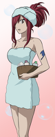045 352427 fairy tail erza bath time by zagtul