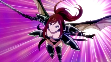 100 Erza changes to Black Wing Armor